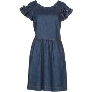 Red Valentino Ruffle Sleeve Denim Dress Size 4